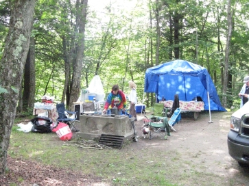 Harriet in Camp_Mongaup Pond Aug 15 - 17- 2014
